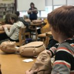 Middle Schoolers learn hands on CPR training