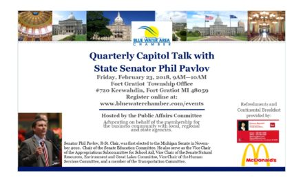 State Senator Phil Pavlov to host Quaterly Capitol talk Friday