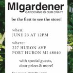 MIgardener's Grand Opening is June 23rd in Downtown Port Huron
