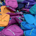 Students Receive New Backpack Before School Starts