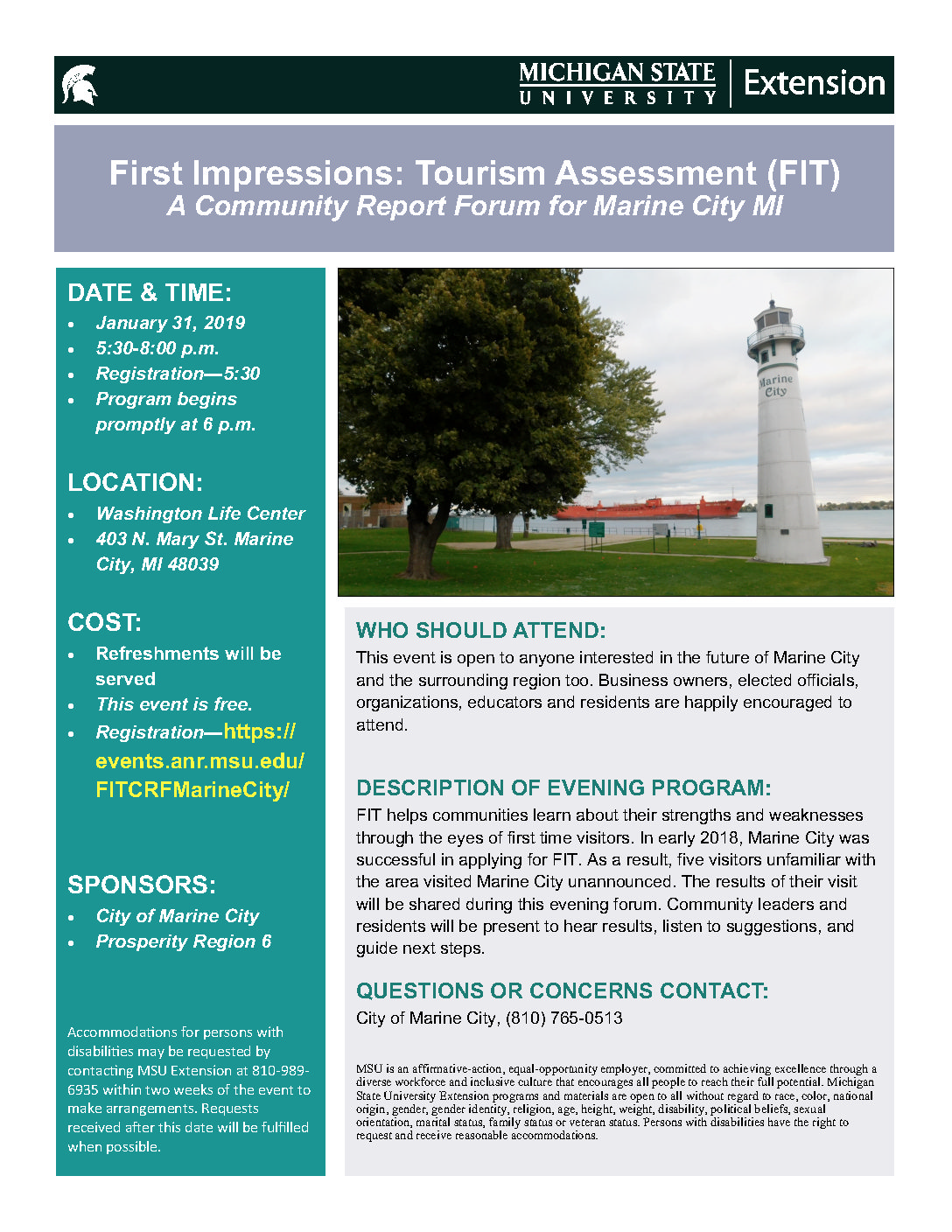 Marine City Will Receive Tourism Results at FIT Community Report Forum