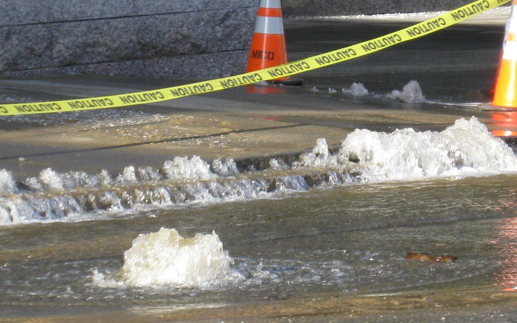 Water Main Break Causes Low Pressure, Closures in Marysville