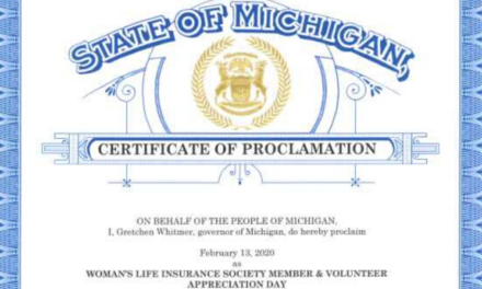 Woman's Life Insurance Society Honored With a Proclamation